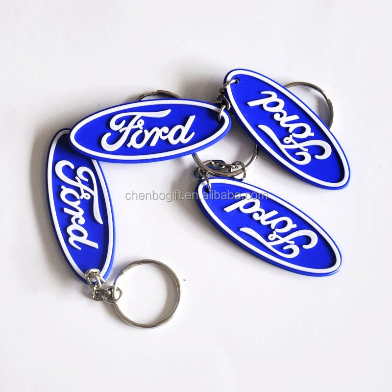 Best seller soft pvc key chain, custom made soft pvc key ring in 1 color logo
