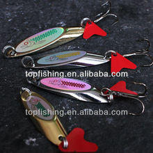 J01 No.1 metal fishing lures copper fishing spoon lures