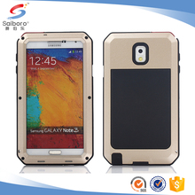 TPU+PC+metal waterproof case for samsung galaxy note 3 case