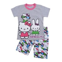 Girls Clothing Set 2015 new baby girl summer set children cute sleeve T-shirt + shorts,children pajamas set