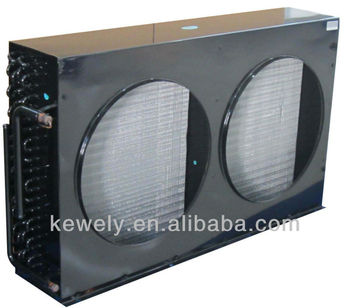 Aluminum fin/copper pipe air cooled exchanger condenser