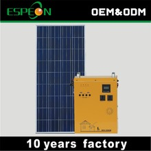 Off grid 500W solar home power system with 100W solar panel