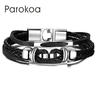 2015 Hot new cheap handmade men rope leather bracelet jewelry