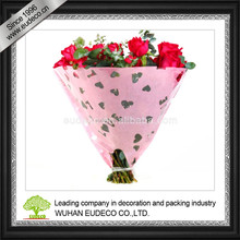 NON WOVEN AND BOPP MOON SHAPE SLEEVE, FLOWER WRAPPING