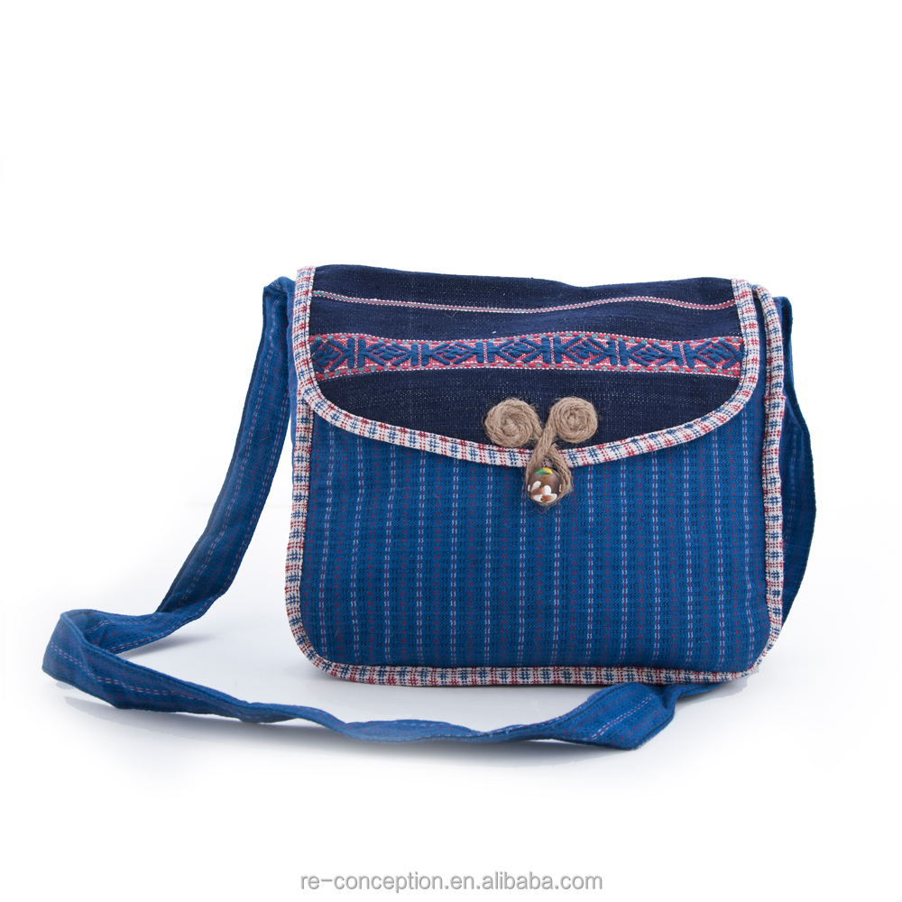 Pure Handmade Vintage Design Handwoven Cloth Retro Linen Messager Bag