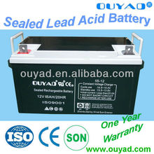 high quality 12v 65ah sealed lead acid battery of green energy