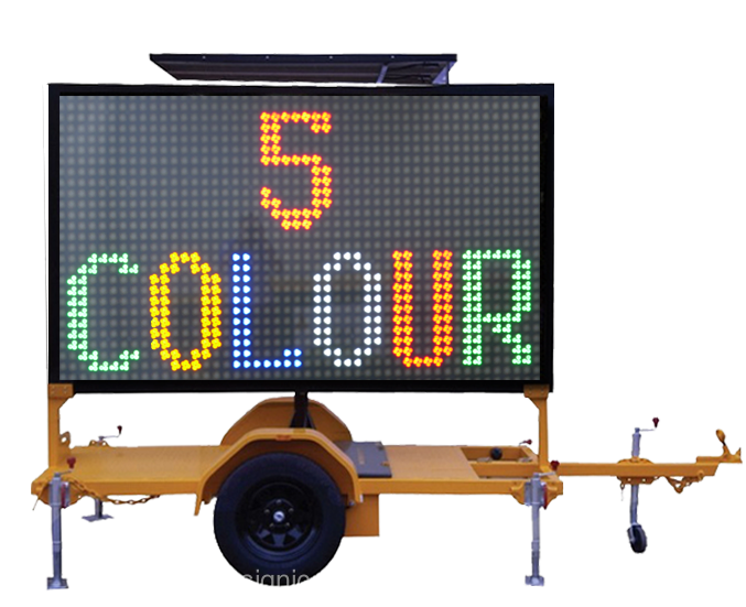 Signic truck mounted vms led display trailer programmable led moving message sign board