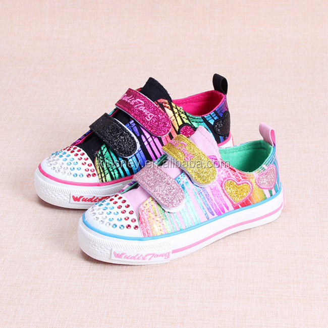 KS30187A 2017 spring new colorful twinkle toes sequins kids canvas shoes/kids shoes online/kids shoes girls