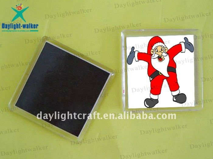 Fashion Customized Colorful Christmas Plastic Fridge Magnet