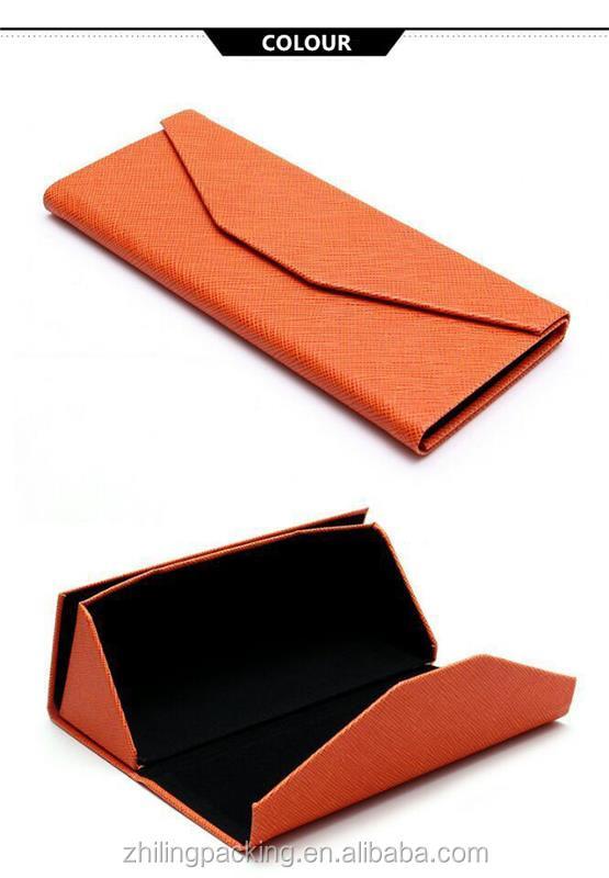 ZHILING 삼각형 태양 접이식 안경 케이스 도매