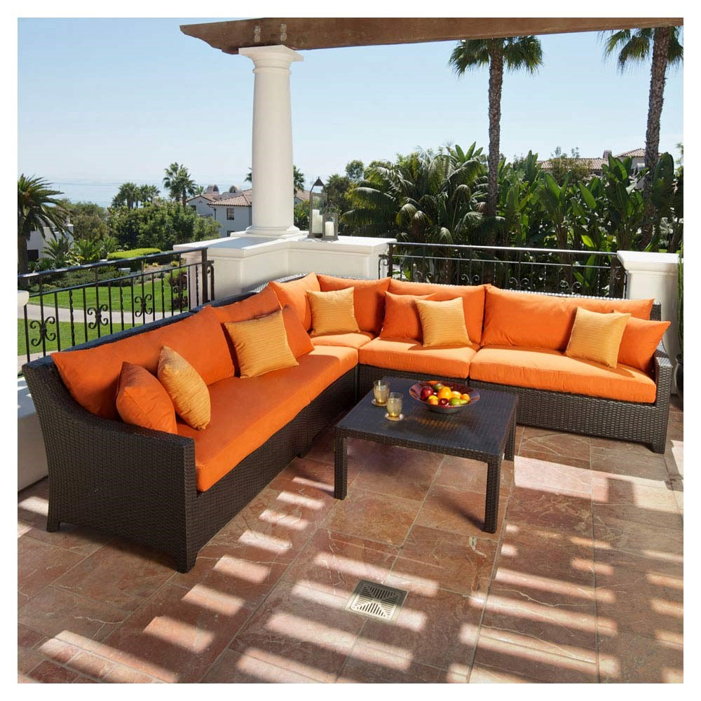 Popular hot sale sectional wicker garden furniture modern outdoor sofa