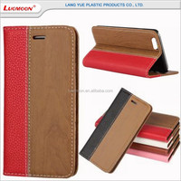 wood and lichee pattern pu leather slide flip phone case cover for lenovo vibe s1 tab 3 A6000/A6010 A7000/PLUS A2010