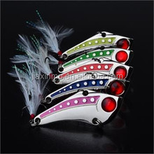 5pcs/Lot Spoon Lure VIB <strong>Fishing</strong> Lures Spinner <strong>Bait</strong> CrankBait Tackle #6 Hook 15g