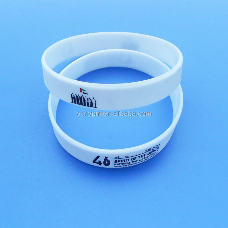 custom UAE 46th national day silicone printing bracelet gifts
