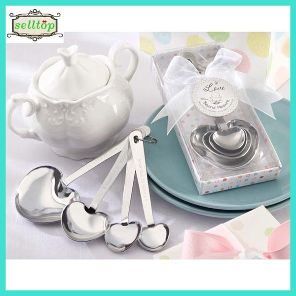 Cheap 4pcs stainless steel spoon wedding thank you gifts for guests