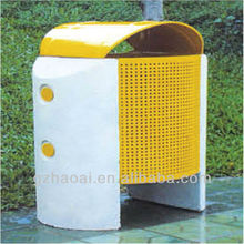 A-06202 Hot Sell Public Garden Outdoor Stainless Steel Dustbin Perforated