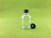 Bottle manufacture ONE day lead time empty quality 15ml square clear/amber/blue glass argan oil bottle for ejuice