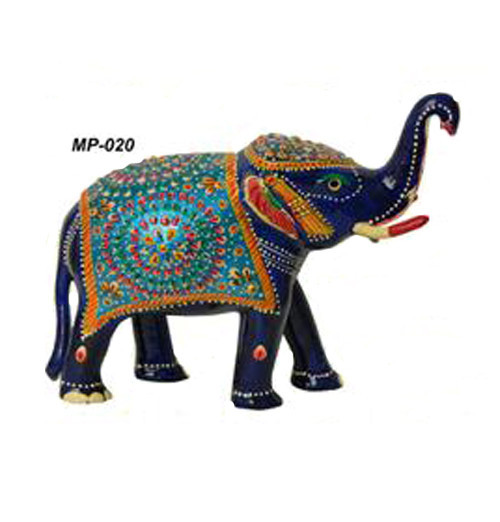 Exclusive Indian Metal Painting Elephant Home Acessories Gift Item