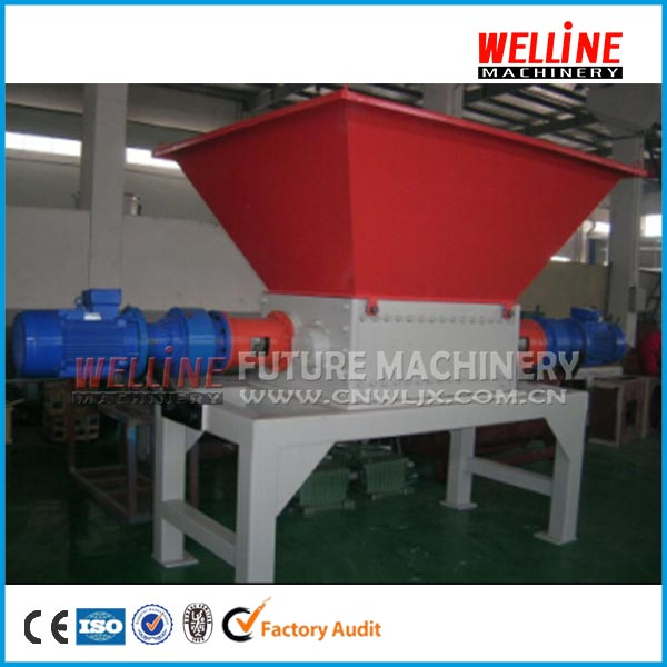 Big capacity tree branches double shaft chipper shredder machine price for sale