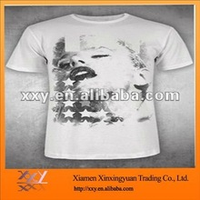 Baggy T Shirt Plus Size White Pinting