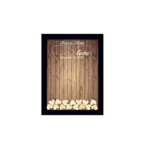 Wholesale Personalized Custom Frame Guest Book Wedding Wood