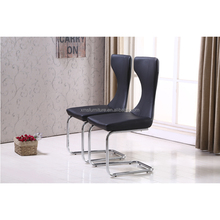 beautiful modern dining chair pu cover chrome legs