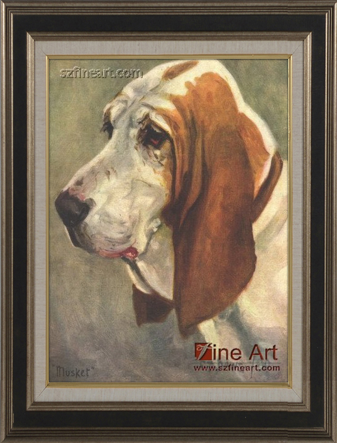 Impression Old Master Dog Portrait Oil painting