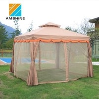 outdoor aluminum and pvc canopy garden gazebo, spring top marquee tent