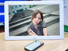 15'' wholesale advertising LCD display/digital photo frame support video/music/picture