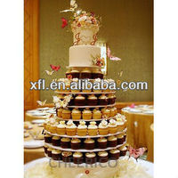 7-tire acrylic white round cake stand for wedding