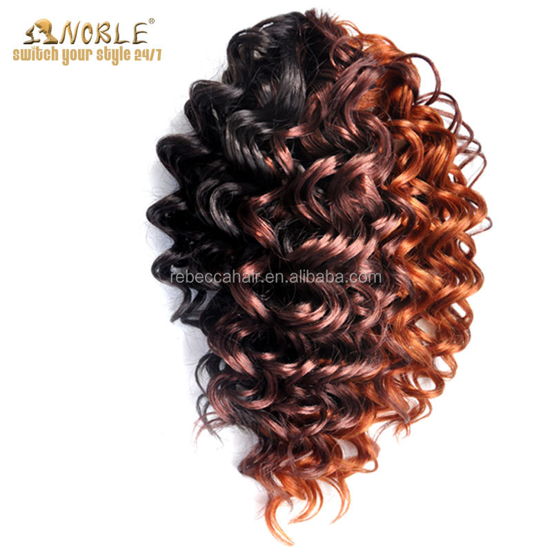 Noble Wholesale 3pcs Curly Synthetic Hair Extensions Curly Hair