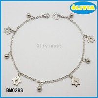 Olivia charm bracelet 10 fittings with silver popular double dolphins for child