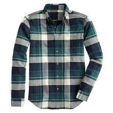 OXFORD SHIRT IN DUSTY BAMBOO PLAID