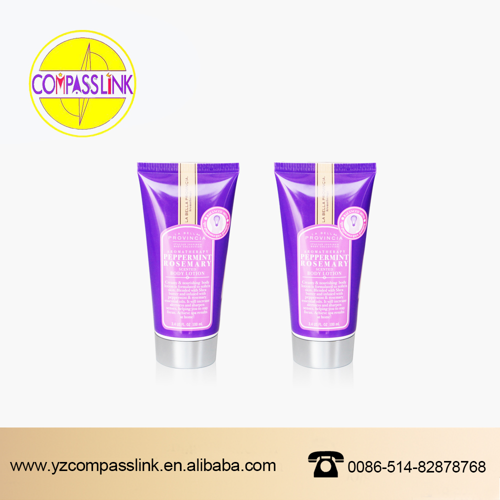 dia 50mm Empty round shaped plastic soft tubes packaging / cosmetic tubes packing for face wash cream