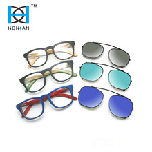 Custom polarized clip on skateboard wood sunglasses
