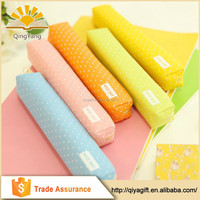 wenzhou cangnan clear cheap cute rainbow color canvas pencil case for school