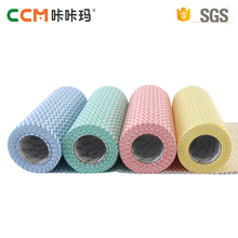 China manufacturer multipurpose Disposable Wave Line Spunlace Nonwoven fabric household Cleaning Cloth