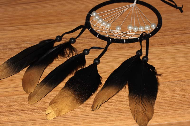 painted goose feather dream catchers MS1064
