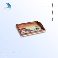 2016 Chinese style beautiful balsa wood food wooden serving tray