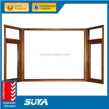 Window french type well insulation wood bay window