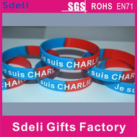 Je suis(i'm) CHARLIE cheapest high quality silicone bracelet