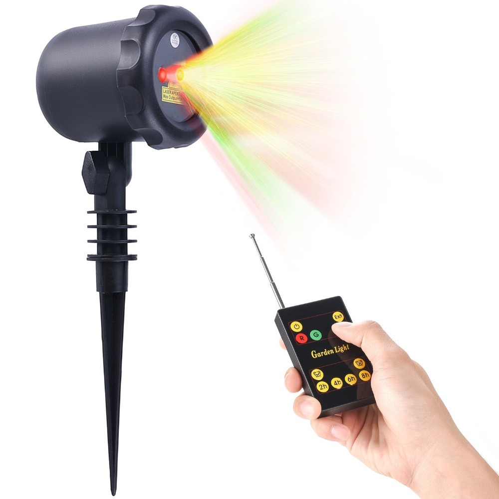 Holiday Time Red / Green Christmas Outdoor Laser Motion Light