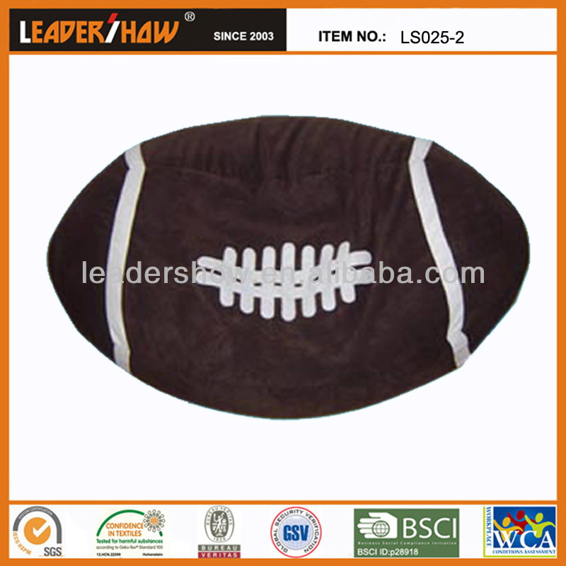 Rugby shape bean bag chair