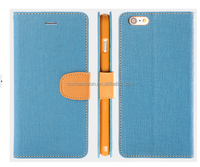 2015 Best Selling British Style Fashion TPU+PU+Denim Wallet cell phone case with card holder CO-LTC-1038