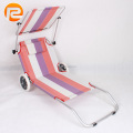 Sun lightweight folding beach bed with wheel