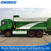 22m3 dump truck trailer with tree-axle