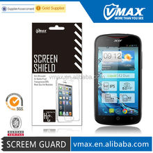 Mobile phone Anti Shock screen protector for Acer liquid e2 oem/odm (High Clear) with packing