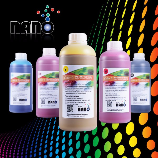 Taiwan Nano Light solvent ink for Epson printer DX4 DX5 DX7 for 15 pl