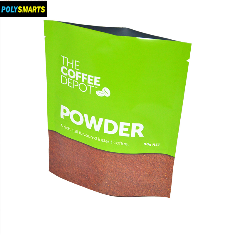 90g N/W coffee powder packaging bag stand up whey protein pouch with inside VMPET material
