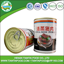 Canned Style and HACCP,ISO,HALAL Certification Pork Meat